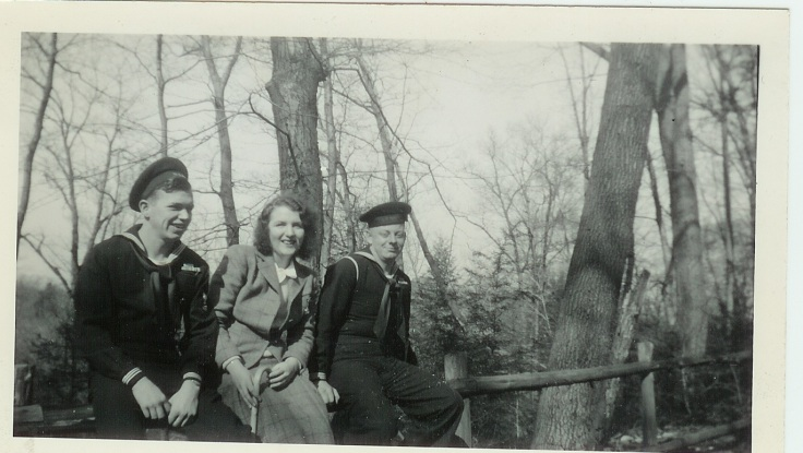 Mom with Lou Friend and Bob Hogan 1943