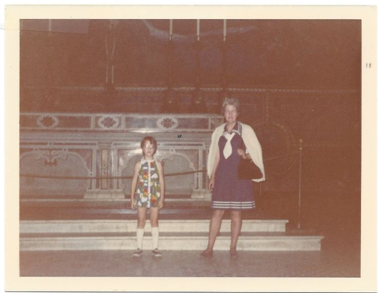 Mom and me at the Sistine Chapel, 1972