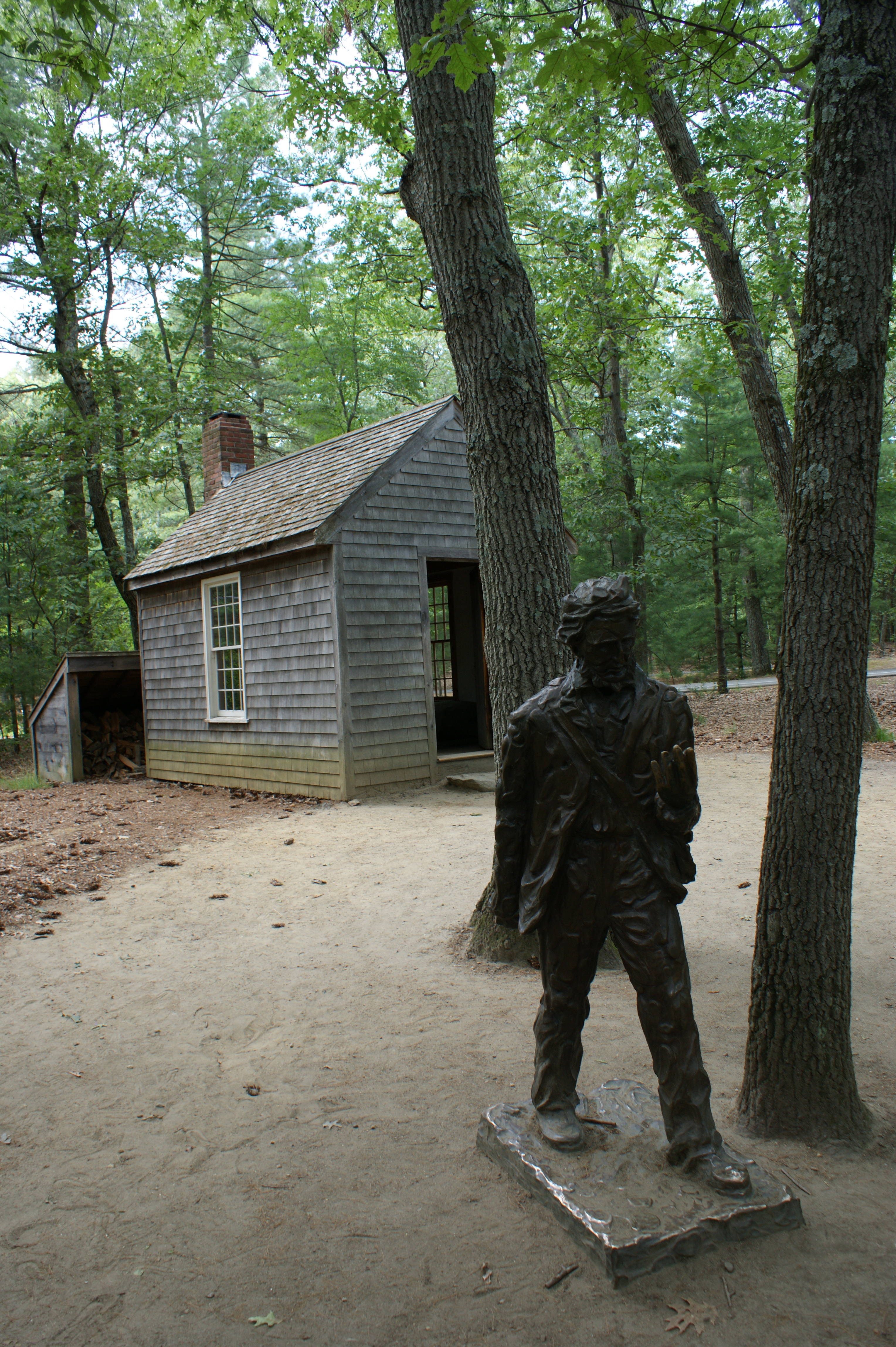 photo essay a stop at walden pond on thoreau s birthday  in a stones throw of this a replica of the cabin where thoreau lived and